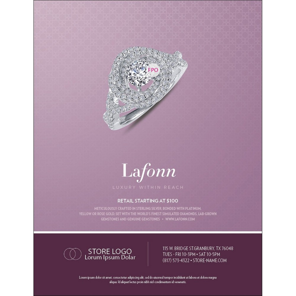 lafonn luxury within reach advertisement templates advt0027