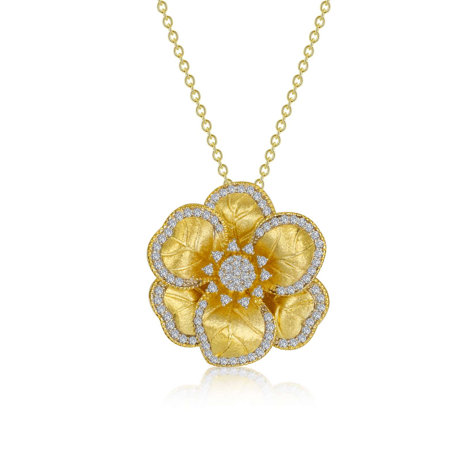 Mixed-Color Flower Necklace